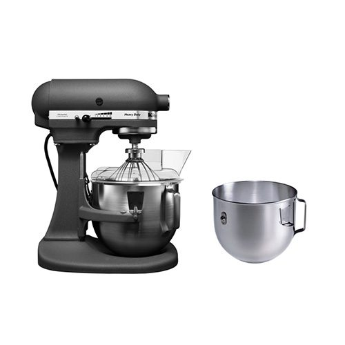 KitchenAid 5Qt/4.8L Heavy Duty Stand Mixer 220V with Coated Flat Beater,  Wire Whisk, Coated C-Dough Hook, 5Quart Stainless Steel Work Bowl, Reset ...